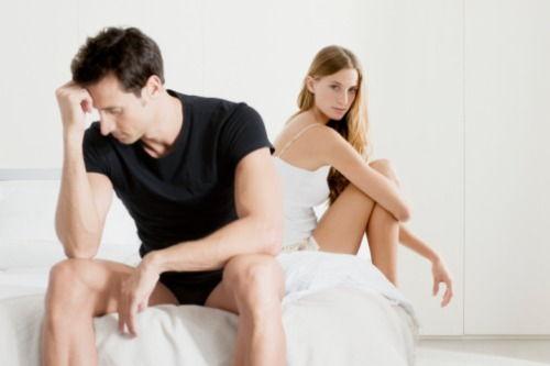 din cauza dispariției unei erecții la femei